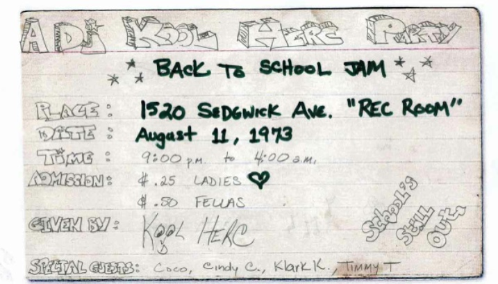 Sedgwick & Cedar's Original 1973 Flyer